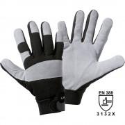 Rindspaltleder-Handschuhe UTILITY grau / schwarz, VE 12 Paar Größe L