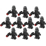 10 New Lego Shadow Stormtrooper Minifig Lot 75079 Black Trooper Figure
