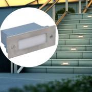 vidaXL 2 LED zapustené svetlá do schodov 44 x 111 x 56 mm
