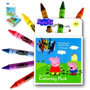 Peppa Pig On the Go Coloring Book Activity Set With a Set of Over Sized Jumbo Crayons Also Included Is 1 Large Coloring Sticker