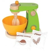 Mighty Mixer Wooden Play Kitchen Set