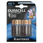 Duracell Ultra Power AA Batteries 4 + 2 Pack