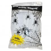 Merkloos Spinnen web met spinnen 60 gram