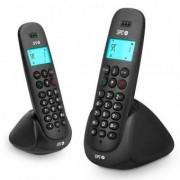 Trådlös telefon DUO Telecom 7312N DECT Svart