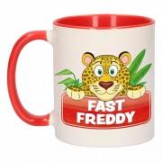 Bellatio Decorations Dieren mok /luipaarden beker Fast Freddy 300 ml