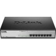 Switch D-Link Gigabit DGS-1008MP 8 Porturi PoE Negru