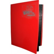 Monster Binder 9 Pocket Trading Card Album Matte Red (Anti Theft Pockets Hold 360+ Yugioh, Pokemon, Magic The Gathering Cards)