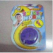 Twisty Wriggly Magic Worm - A Fun Toy for All Ages (Blue) (Purple)
