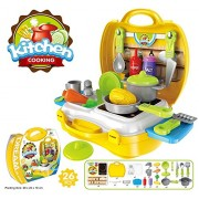 Kids Choice Kid Chef's Bring Along Kitchen Cooking Play Suitcase Set (3)