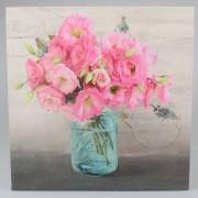 Tablou pe pânză Flori roz