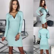 Dámské elastické šaty Penelope - mint (XS / S) - Fluo