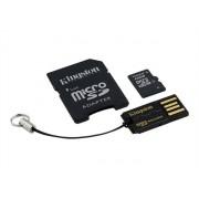 Kingston Multi-Kit / Mobility Kit - Carte mémoire flash (adaptateur microSDHC - SD inclus(e)) - 16 Go - Class 4 - microSDHC - avec USB Reader