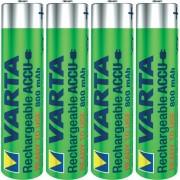 VARTA uppladdningsbart batteri AAA Micro 800mAh 4-pack