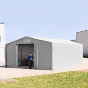 TOOLPORT Industrial Tent 8x8m PVC 720 g/m² grey waterproof