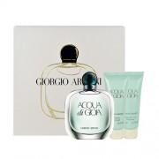 Giorgio Armani Acqua Di Gioia Edp 100Ml + 75Ml Body Lotion + 75Ml Shower Gel 100Ml Per Donna (Eau De Parfum)