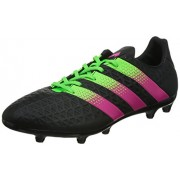 adidas Men's Ace 16.3 FG/AG Black, Green and Pink Football Boots - 8 UK