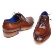 Paul Parkman Side Handsewn Split Toe Oxford Shoes Brown 054-BRW