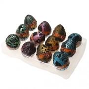 Generic 12 Pcs Black Dinosaur Eggs Fun Water Hatching Toy Growing Dino Toy