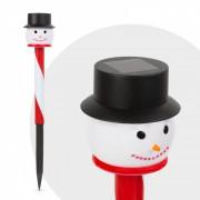 Led-es leszúrható szolár lámpa - hóember fej - fekete