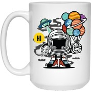 154 - RTP - Roach Graphics - Gift From Outer Space-01 - 21504 15 oz. White Mug