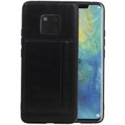 Zwart Staand Back Cover 1 Pasjes voor Huawei Mate 20 Pro