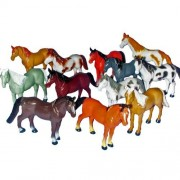 "~ 12 ~ Horse Figures ~ 3"" To 4"" Plastic ~ New ~ Horses Ponies"
