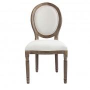 Milani Home KARINE - sedia in legno di quercia wengé' con seduta imbottita