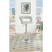 Poundex F1556 Set of 2 kossini collection contemporary style grey faux leather adjustable swivel bar stool