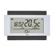 > Cronotermostato da parete grigio touch TH/500 BK
