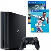 Конзола Playstation 4 PRO, 4K, 1ТВ, Sony PS4 Pro+Игра FIFA 19 за PlayStation 4+Игра Destiny 2 за PlayStation 4