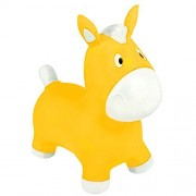 """Off The Wall Toys Jumping Pony Horse Hopper, 22"""" Ride-on Bouncy Animal Hopper, Sit and Bounce for Children Kids (Yellow)"""