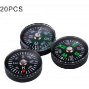 20 Pcs 20mm Deportes Outdoor Camping Senderismo Guider Plastic Compass Pointer Excursionista De Navegacion, Color Al Azar Entrega
