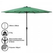 Градински чадър [casa.pro]® Ø 300 x 230 cm, Зелен, водоусточив, Полиестер