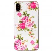 Capa Silicone Brilha no escuro para iPhone X / iPhone XS - Rosas