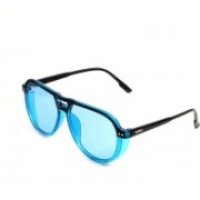 Mickle Aviator, Clubmaster, Oval, Over-sized, Retro Square, Round, Spectacle , Wayfarer, Wrap-around Sunglasses(Blue)