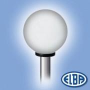 Dekoratív közterületi lámpa GLOBOLUX 1x75W E27 d=250mm PMMA opál búra IP44 Elba