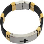 Sanaa Creations Mens Style Stainless Steel Multicolor Silicone Mens Bracelet New Year Special offer for Men Boys