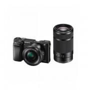 Aparat foto Mirrorless Sony Alpha A6000 24.3 Mpx WiFi NFC Black Kit 16-50mm si 55-210mm