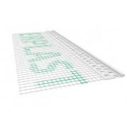 Listwa PCV zakończeniowa odcinająca z siatką A=100mm B=10mm L=2,5mb - pakiet 50szt.