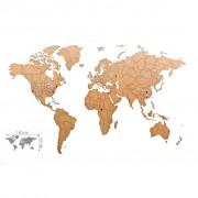 MiMi Innovations Карта на света стенна Luxury пъзел кафява 150x90 см