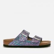 Birkenstock Women's Arizona Slim Fit Suede Double Strap Sandals - Metallic Stones Violet - UK 7 - Purple