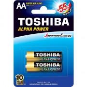 Baterii toshiba Ultra alcalina Baterie LR6 / AA, 1,5V, 2 piese ALPHA POWER (0292761)