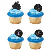 A1Bakerysupplies Pirates Of The Caribbean Pirate'S Life Cupcake Rings - 24 Pc