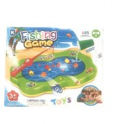 Fish Catching Game with 8 Fishes Multicolored, 1 Pool, 2 Fishing Rods. Fishing is the activity of hunting for fishes.