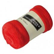 James & Nicholson Microvezel fleece deken rood