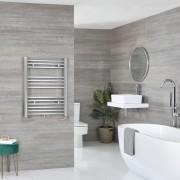 HudsonReed Sèche-serviettes électrique – Chromé – 80,3 cm x 50 cm - Neva