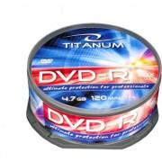 Pachet cu discuri pentru stocarea de informatii , Esperanza , Titanum 1280 DVD/R 16x 4.7GB 25 bucati , argintiu