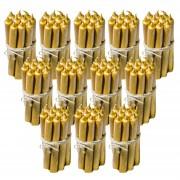 12 Seturi Lumanari Aurii de 10 buc drepte 2 2 22 CM