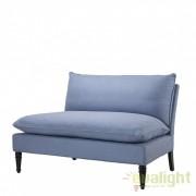 Bancheta eleganta cu tapiterie din tesatura Maxwell Blue 108087 HZ