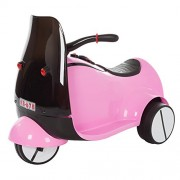 Ride on Toy, 3 Wheel Motorcycle Euro Trike for Kids by Lil' Rider - Battery Powered Ride-on Toy for Boys and Girls, 2-5 Years Old - Pink